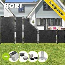 HORI® HPL Garten-Zaun granit-anthrazit I
