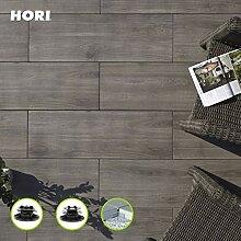 HORI® Terrassenplatte Grigio Grau Feinsteinzeug I