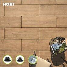 HORI® Terrassenplatte Noce Braun Feinsteinzeug I
