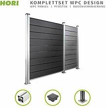HORI® WPC-Zaun Design I Sichtschutz-Zaun,