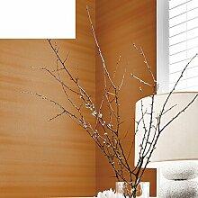 horizontale Streifen Stoff Tapete Vliestapete Einfachen und schlichten Farbe plain Tapete Orange Teppichboden Tapete-A