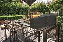 Hornschuch Schutzhülle für Gartenmöbelauflagen Premium, Textilgewebe 420 D, 125 x 32 x 50 cm