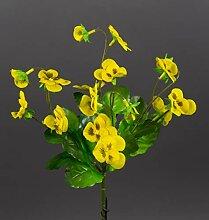 Hornveilchen 22cm gelb FI Kunstpflanzen
