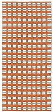 Horredsmattan 10305-0002 Kunstfaser Teppich, Rut, 70 x 100 cm, orange