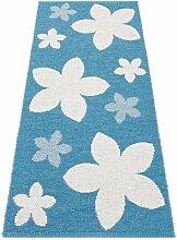 Horredsmattan 11415-0005 Kunstfaser Teppich, Flower, 70 x 250 cm, türkis