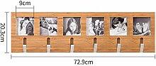 HORS Kleiderbügel Wandbehang Wand Kleiderbügel Eingang Kleiderbügel Rack Schlafzimmer Wand Massivholz Kleiderhaken Schubladenboxen ( größe : 72.9cm )