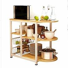 HORS Küchenregal-Mikrowellenherd-Regal-Küchen-elektrisches Regal-Speicher-Lagerregal-Gestell-Rack-Kabinett-Küchengerät-mehrschichtiges Regal Schubladenboxen ( Farbe : #1 )