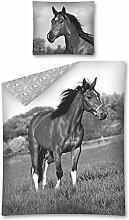 Horse Riding 2675 Pferde Motiv Bettwäsche Set 140
