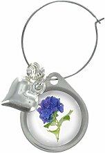 Hortensie Blüte Bild Design Weinglas Anhänger mit schicker Perlen
