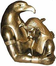 Horus mit Ägypter - Ägyptische Figuren - AE065