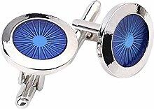 Hosaire 1 Paar Manschettenknöpfe Mode Blau Auge Form Dekoration Hemd Hochzeit Cufflinks Exquisite Zubehör Geschenk