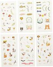 Hosaire 1 Set DIY Karikatur Aufkleber Cat