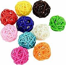 Hosaire 10 Stück/Set Rattan Ball Deckenleuchte