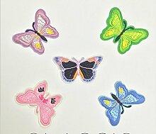 Hosaire 10x Tuch-Aufkleber Schmetterling Bestickte