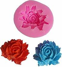 Hosaire 1x DIY Backform Rosa Rose Blume kuchenform
