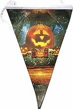Hosaire 1x Halloween Dreieck Fahnen Bunting Banner