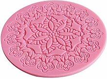 Hosaire 1x Prägung Fondant Rolling Matte Dough Rolling Pin Kekse Gebäck Kuchen dekorieren Formen Form zum Backen Kochen Tools