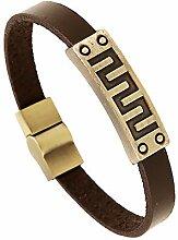 Hosaire 1x Retro Armband Männer Armband Herren