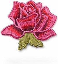 Hosaire 1x Rose Tuch Aufkleber Patch Mode DIY
