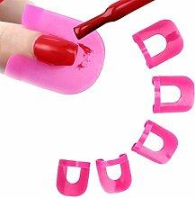 Hosaire 26 Stück/set Nagellack Schablone 10 Größen Farbe Nagelkunst Werkzeuge