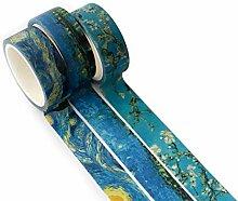 Hosaire 3X Masking Tape Bunt Dekoband, Beautiful