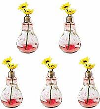 Hosaire 5x Glas Vase Kreative die Glühbirne