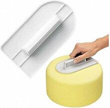Hosaire Kuchen Glatter Modellierwerkzeug Marzipan DIY Backen Werkzeuge Kunststoff Kuchen dekorieren,Weiss