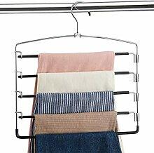 Hosen-Kleiderbügel, rutschfest, platzsparend,