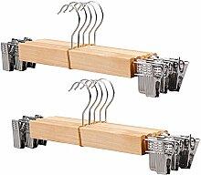 Hosenbügel, FOKOM 10Stück Holz Klassische