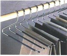 Hosenbügel mit Antirutscheffekt und offenem Ende, Hose herunternehmen ohne den Bügel herauszunehmen, 12 Stück