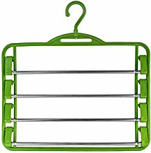 Hosenbügel mit verchromtem Hosensteg Grün - 10