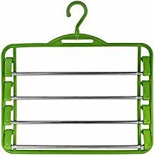 Hosenbügel mit verchromtem Hosensteg in Grün Size 5 Stück