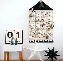 Hosmide Weihnachts-Adventskalender, 24 Taschen,