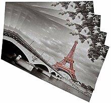 HOSNYE Tischsets Eiffelturm für Küche Esstisch