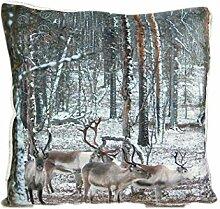 Hossner Hirsch Kissenhülle 50x50 cm Weihnachten