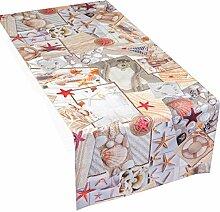 Hossner Tischläufer Maritim 50x150 cm Muscheln