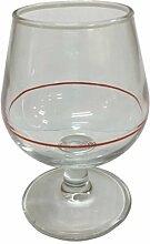 Hostelvia–Cognac Gläser F/rot 10cl tens.