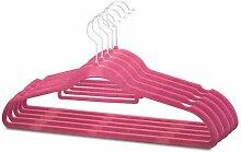 Hot Pink DÜNN Samt platzsparend rutschfest