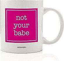 "Hot Pink ""Not Your Babe""-Kaffeetasse"