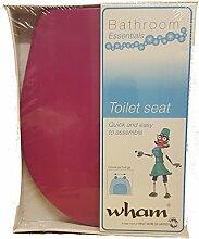 HOT PINK Plastic Soft Close Bathroom Toilet Seat