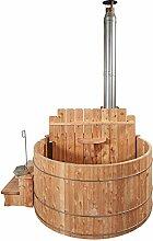 Hot Pot Badespass im Holzfass, Außenbadezuber aus