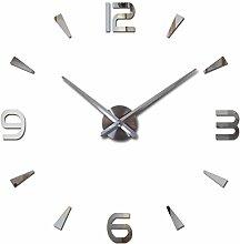 Hot Sale diy Wall Sticker Uhren acryl Quarz material Home Dekoration Wohnzimmer Europa Aufkleber noch leben, Himmelblau