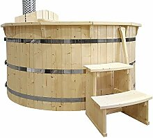 Hot Tub Badezuber 180cm NEU Badefass Edelstahl
