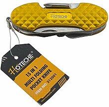 Hoteche 312001 Multifunktionsmesser, vergoldet und