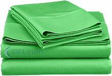 Hotel Classic Soft und Luxus 4PCS Bed Sheet Set (massiv–alle Farben) Fadenzahl 400, (Deep Pocket–30,5cm Zoll) alle Größen 100% ägyptische Baumwolle –, SRP Leinen, baumwolle, salbeigrün, UK Super King