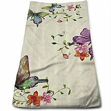 hotel collection towels Butterfly Vintage