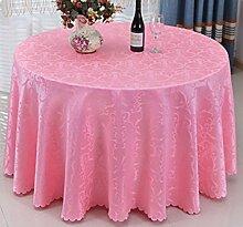 Hotel Jacquard Restaurant Hotel Tischdecke Runde Tischdecken Stoff,Pink-diameter240cm