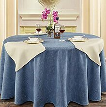 Hotel Linen runde Tischdecke quadratische Tischdecke Tischdecke Kaffee Tischdecke Abdeckung Tuch reine Farbe Elegance Retro Verdickung undurchsichtig ( farbe : A4 , größe : 270cm )