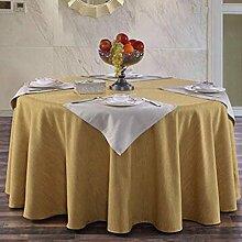 Hotel Linen runde Tischdecke quadratische Tischdecke Tischdecke Kaffee Tischdecke Abdeckung Tuch reine Farbe Elegance Retro Verdickung undurchsichtig ( farbe : A2 , größe : 300cm )