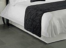 Hotel Qualität Groß Luxus mit Samt schwarz Bettläufer 70x 220cm